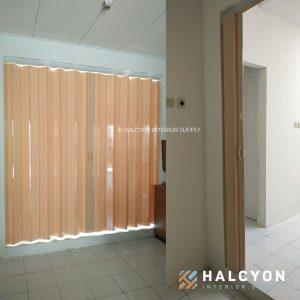 folding door pvc54 by halcyon interior